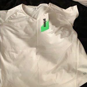 Prince Tops - White Sporty shirt
